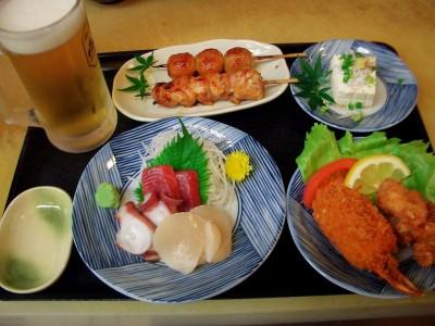 鳥義さん、ほろ酔いセット1500円